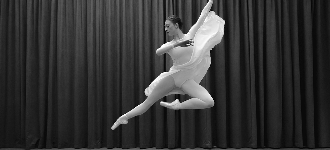 Ballerina from ballet projectd performs